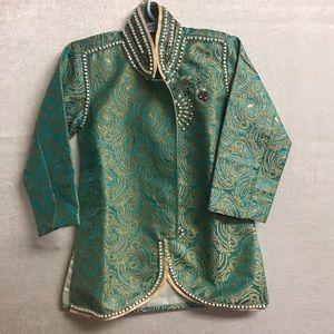 Boys Brocade Sherwani Jacket Size 2